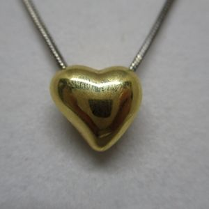 Jewelry - 💛24K Over Sterling Silver Heart Pendant 1.9G